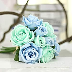 Flowers For - Rose Flowers 6pcs Head 3pcs Bud Artificial Flower 39 S Day Party Bride Bouquet Silk Decorative - Included Solar Flower Eucalyptus Table Black Real Silver Vintage Cherry Mini Sunfl 12