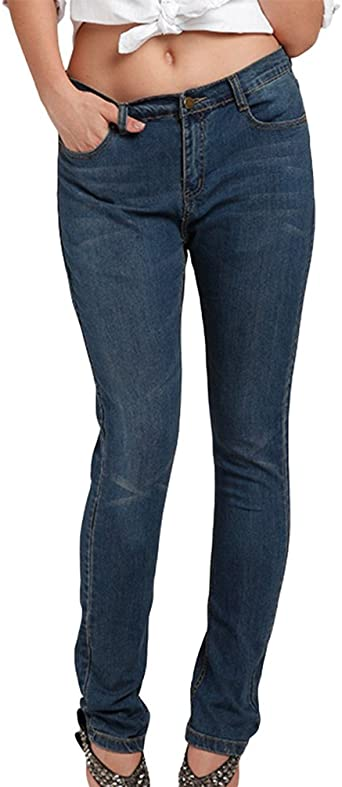 Yuandian Mujers Otono Casual Plus Size Jeans Stretch Tiro Alto Dama Elasticos Pantalones Tejanos Denim Vaqueros Amazon Es Ropa Y Accesorios