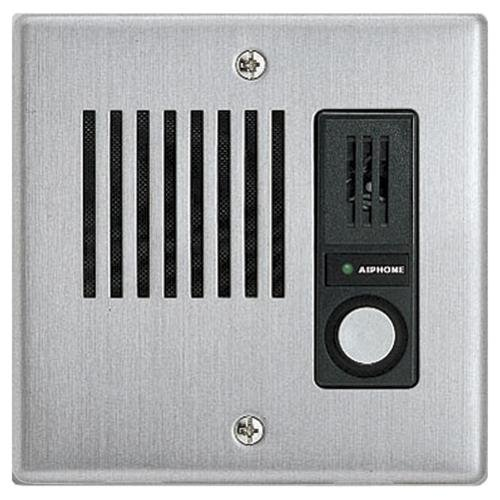 Aiphone Audio Only Door Station, Stainless Steel Faceplate, Flush Mount