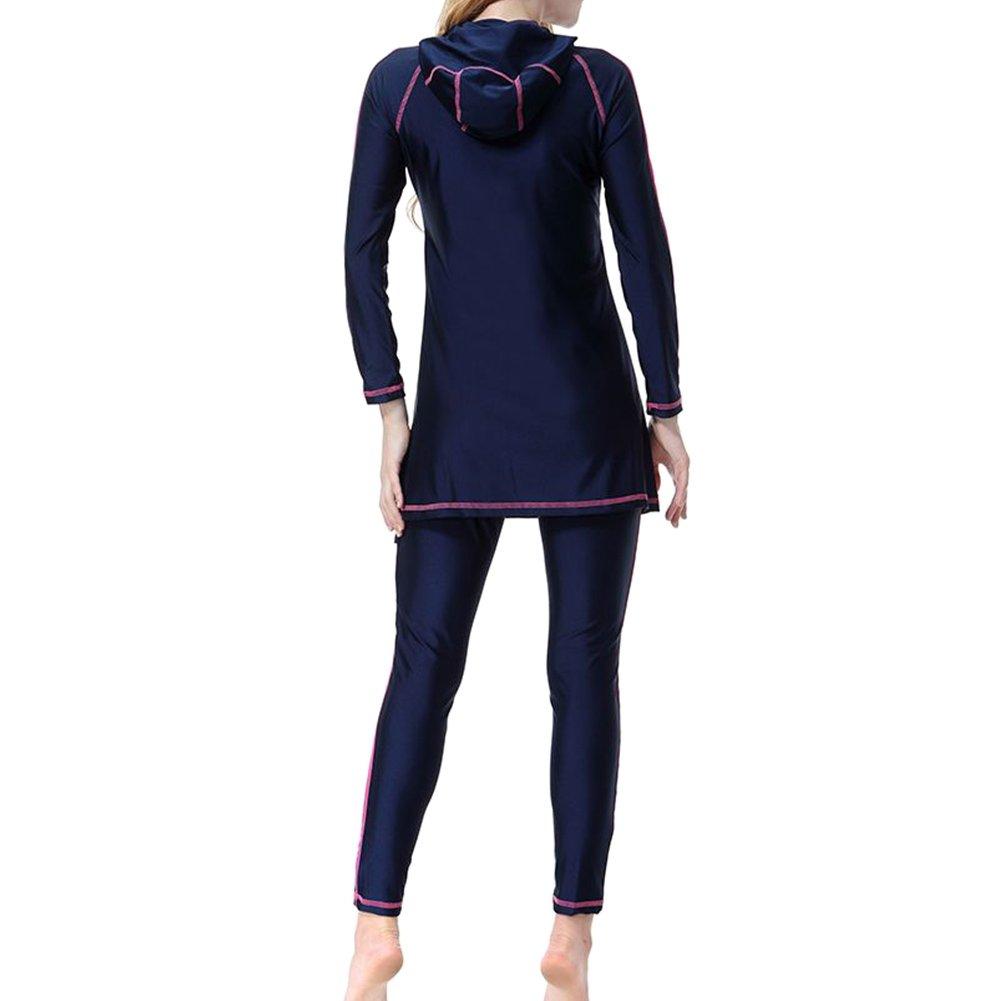 Xinvision Modest Arab Muslim Swimwear Arabic Islamic Women Hooded Hijab Burkini