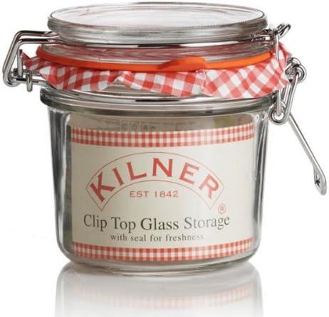 KILNER 6 x Clip Top tarro cristal bote redondo (0,35 l): Amazon.es ...
