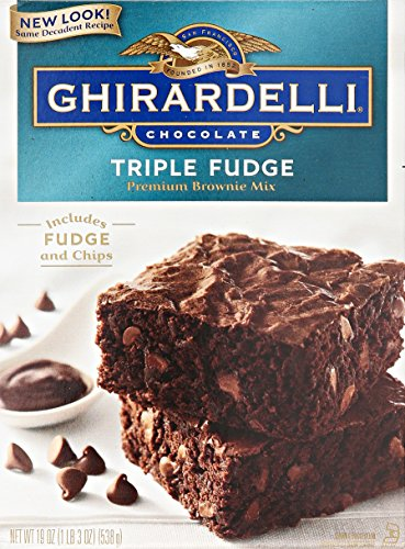 GHIRARDELLI Triple Fudge Brownie Mix, 19 oz