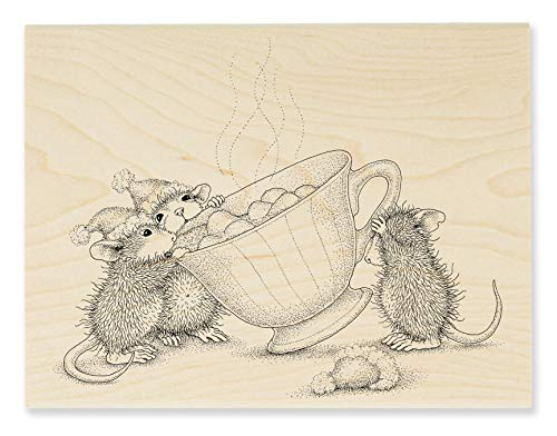 Stampendous HMR131 House Mouse Sharing A Sip Rubber Stamp, ()