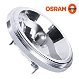 2x AR111 M161 HaloSpot 50w 12v 24 degree Aluminium Reflector (Osram 41835FL) [EU SPECIFICATION 220-240v]