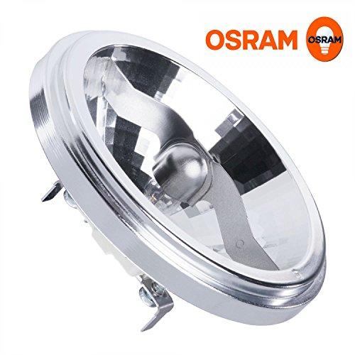 50w 12 Degree Spot - 2x AR111 M161 HaloSpot 50w 12v 24 degree Aluminium Reflector (Osram 41835FL) [EU SPECIFICATION 220-240v]
