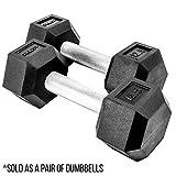 Rep Rubber Hex Dumbbells, 12.5 lb Pair