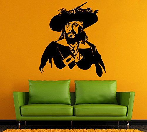 Pirate Wall Vinyl Decal Hector Barbossa Wall Vinyl Sticker Nursery Decor Nautical Decals Home Decor /11rtg/ -