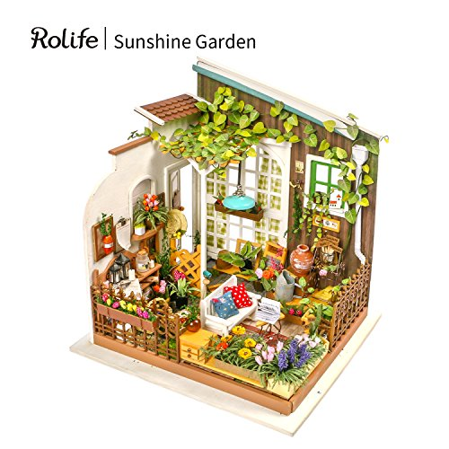 Rolife DIY Miniature Dollhouse Set-Model Building Kit to Build-Assembly Garden Fairy House-3D Wooden Puzzle Playset-Home Decor-Unique Birthday Mothers Day for Boys Girls Friends Mom Women (Dolls Miniature Fairy)