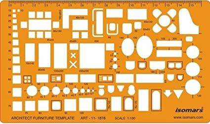 Isomars 1100 Scale Architectural Drawing Template Stencil