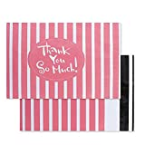 YGEOMER 100pcs Poly Mailers Envelopes Shipping Bags Pink''Thank You'' Designer Boutique Custom Bags(10x13in)