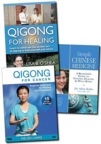 Bundle: Qigong Exercises for Cancer Healing and Prevention DVD - Beginner-Friendly /TCM book / Qigong Healing DVD **3 Bestsellers** by YMAA