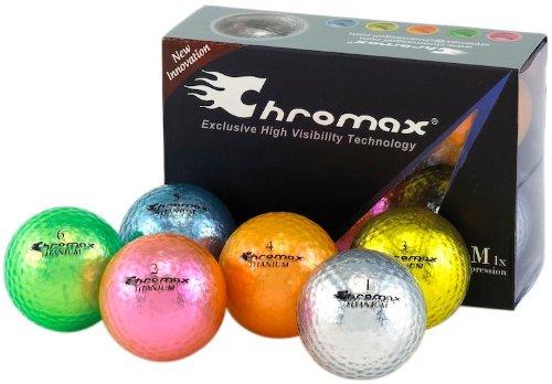Chromax M1 Golf Balls 6 pack (Assorted), Outdoor Stuffs