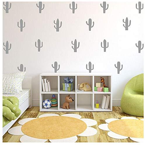 Wociaosmd DIY Cactus - Pegatinas de Pared extraíbles, diseño de Cactus, Gris, Layout Size:A4 (21 * 29cm), 1
