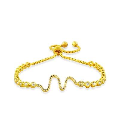 925 Sterling Silber gelb Necklaces Halskette Weiß CZ Snake Damen Link Kette  Armband e7cc1eb345