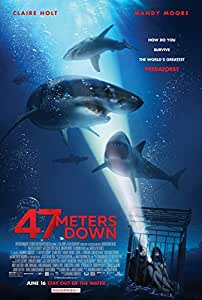 47 METERS DOWN (2017) Original Movie Promo Poster - 13.5 x 20 - Dbl Sided - Claire Holt - Mandy Moore