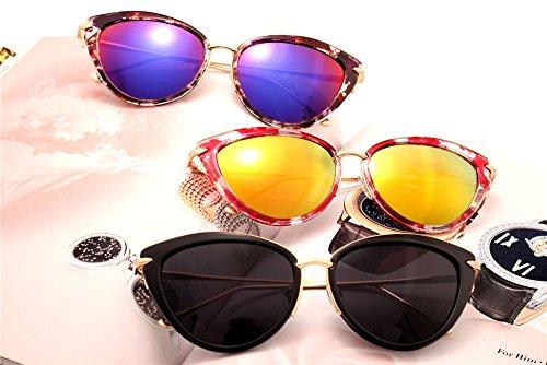 Lujo de conducción borde gafas cristalino de Clásico rojo roja modelo Hombre sol Gafas DESESHENME el lente Mujer la de de azul sol Patrón azul canto de Ptq1wazE