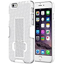 iPhone 6s Case - MoKo [Revised Version / Fixed Belt Clip Holster] Slim Hard Shell Holster Combo Case for Apple iPhone 6 / 6s 4.7 Inch Smart Phone, WHITE