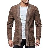 Sale! Teresamoon Men's Fashion Solid Cardigan Sweater Sweatshirts Casual Slim Fit Jacket Coat