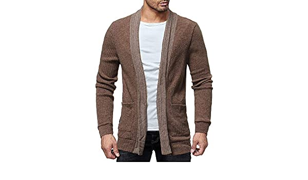 Bolayu Mens Fashion Solid Cardigan Sweater Sweatshirts Casual Slim Fit Jacket Coat at Amazon Mens Clothing store: