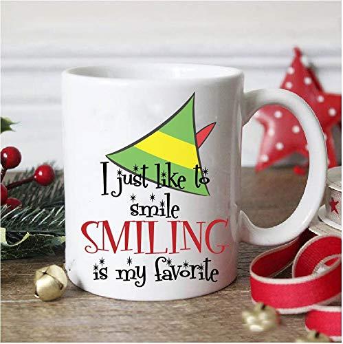 No9 smiling is my favorite mug elf movie mug christmas mug elf christmas mug elf the movie christmas gift funny christmas mug funny mug elf mug 11 oz