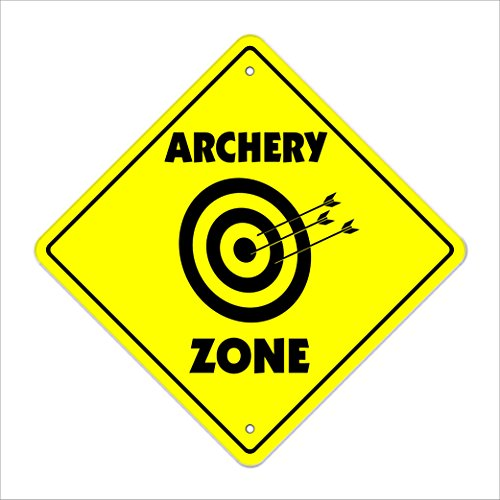 Archery Crossing Sign Zone Xing   Indoor/Outdoor   20