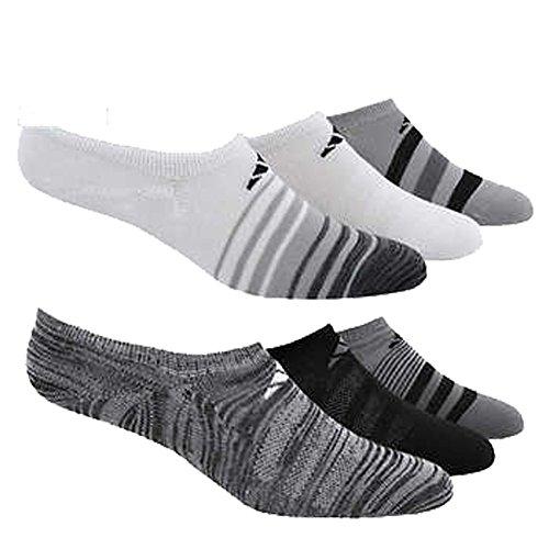 e1b381cbce Adidas Women's Super No Show 6 Pair Climate Socks