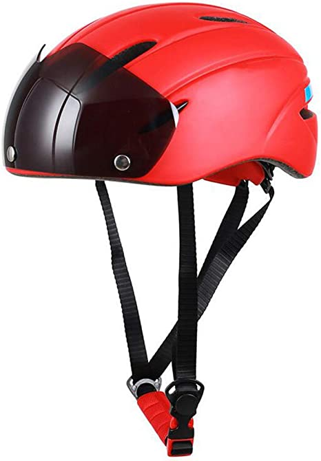 LAIABOR Casco de Bicicleta Ultralight Safety Gafas magnéticas ...