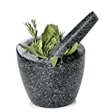 Fresco FMP 104 - 6-Inch Granite Mortar and Pestle, Angled, Gray