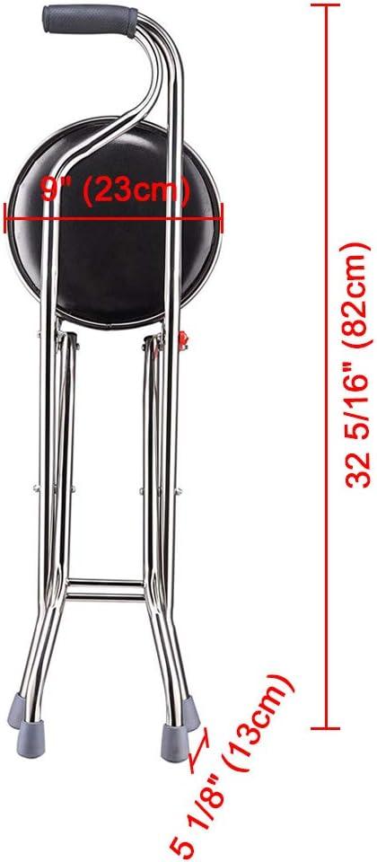 Amazon.com: Taburete plegable con cuatro patas para viaje ...