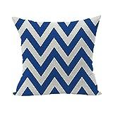 Nunubee Vintage Cotton Pillowcase Decorative Cushion Cover Square Home Pillowcase For Sofa Bed Style 22