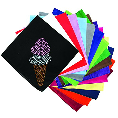 Dog in the Closet, Ice Cream Cone (Double Dip) - Rhinestone Dog Bandana - Choice of Color