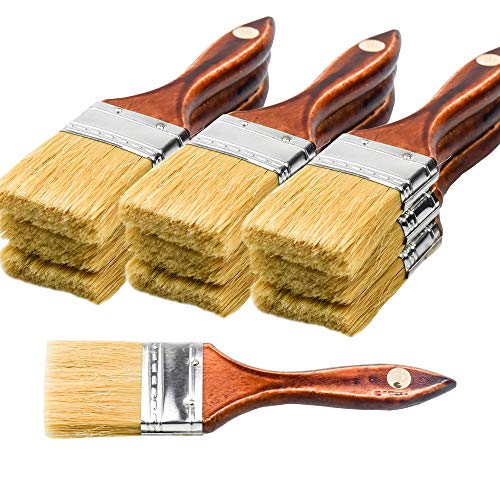20PCS Chip Brushes Bulk Paint Brushes 2inch for Paint, Stains, Varnishes, Glues, and Gesso
