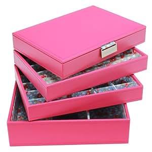Amazon.com: Stackers Jewelry Box Storage System - Hot Pink
