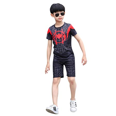 ZHANGQI Marvel Spiderman Camiseta Infantil Traje Pantalones ...