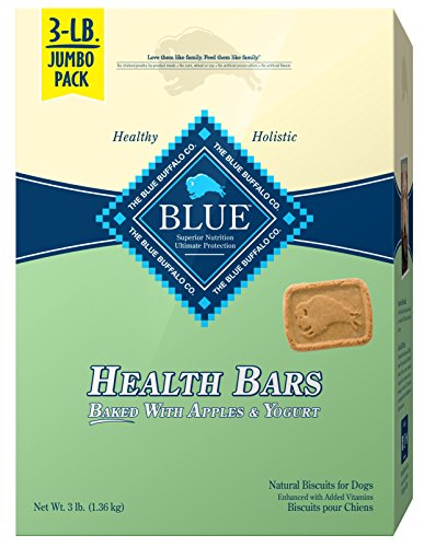 Blue Buffalo Health Bars Crunchy Dog Treats Biscuits, Apple & Yogurt 48-oz box
