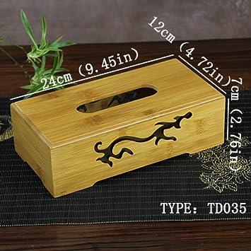 Producto nuevo 8 tipos Tejido cajas natural bambú toalla de papel caja de pañuelos cover con tallada de almacenamiento nuevo producto creativo servilletero ...