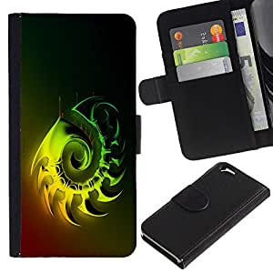 Planetar® Colorful Pattern Flip Wallet Leather Holster Protective Skin Case Cover For Apple (4.7 inches!!!) iPhone 6 ( Shiny Metal )