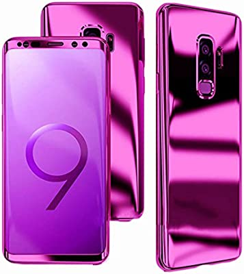 3b517896540 ... Protection Mirror Case for Samsung Galaxy S9 Plus G965 Hard Shell Cover  with Tempered Glass ~ Estuche Funda Tapa Protector Espejo de Celular  (Purple)