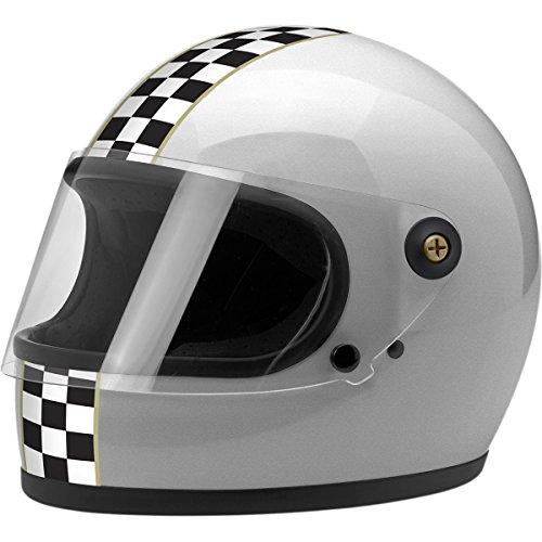 Primary Checkers - Biltwell Inc. Gringo S Checker Helmet, Gender: Mens/Unisex, Helmet Category: Street, Helmet Type: Full-face Helmets, Size: XS, Distinct Name: Checker Silver, Primary Color: Silver GS-SIL-CHK-XS