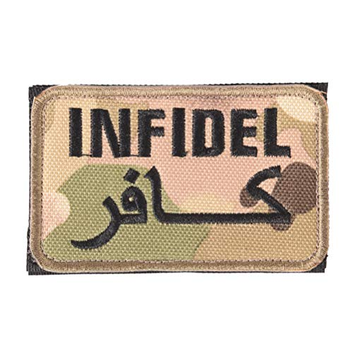 Armor Case Mag (Infidel - 8cmx5cm Clothing Armband Bag Cap Patches Infidel Letter Logo Embroidered Badges Military Army - Ultra Arabic Phone Coffee Armor Holster Guide Shirt Strong Lanyard Magnetic Army Le)