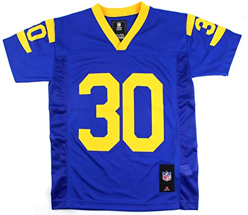 Los Angeles Rams Youth Todd Gurley #30 Jersey Throwback Colors Blue Yellow (Large) by Outerstuff