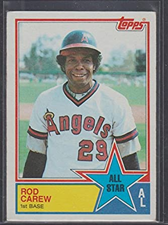 1983 Topps Rod Carew Angels All Star Baseball Card 386 At Amazons