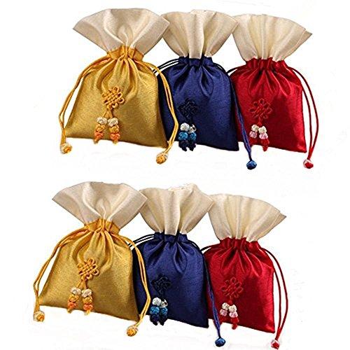 Lilith li Double Layer Korean Version Design Drawstring Bag Jewelry Pouch Coin bags : 6 pcs/ set(HB)