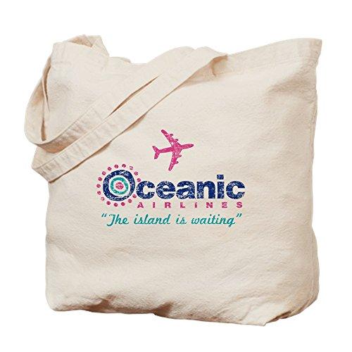 CafePress–Oceanic Airlines–Gamuza de bolsa de lona bolsa, bolsa de la compra Small caqui