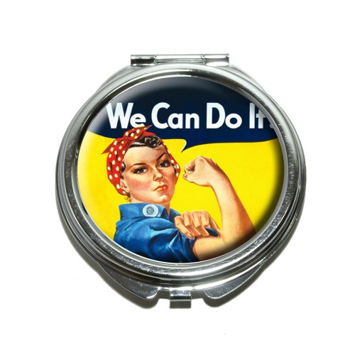Rosie The Riveter - War Poster Compact Purse Mirror