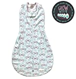 Woombie Grow With Me Baby Swaddle - Convertible Swaddle Fits Babies 0-9 Months - Expands to Wearable Blanket for Babies Up to 18 Months (SomeBunny Loves Me)
