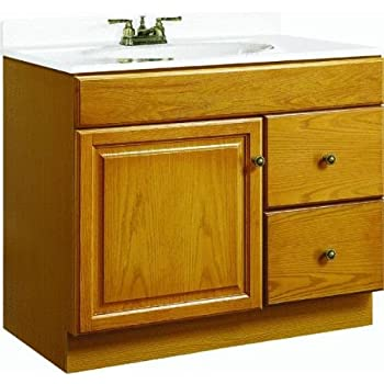 Foremost heo3018 heartland 30 inch oak bath vanity with - Replacement drawers for bathroom vanity ...