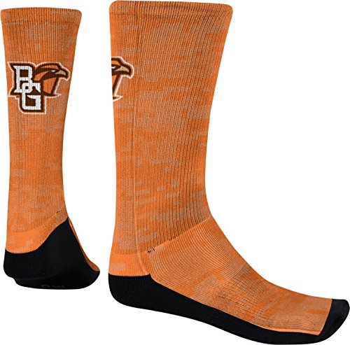 Bowling Green State University Men's Sublimated Socks - Digital r1 (Large) Bowling Green Falcons Top