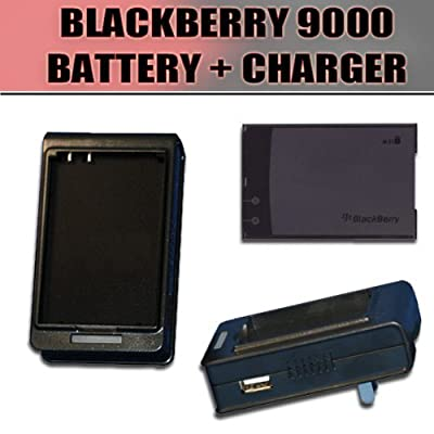 Battery + EXTERNAL / DESKTOP + HOME / WALL Charger for Blackberry Bold 9000 from ClearMax