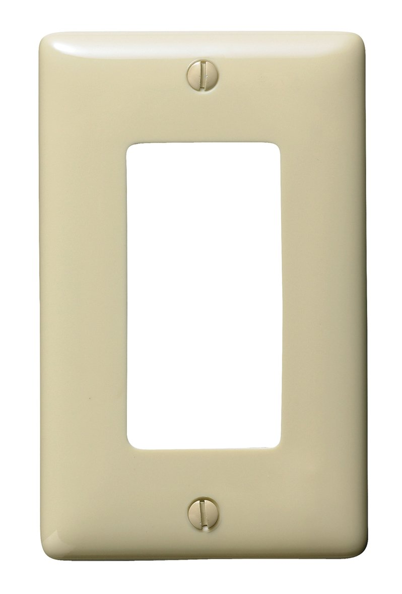 Bryant Electric NP26I 1-Gang 1 Decorator/GFCI Wall Plate, Ivory